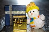 Christmas Snowman Toy With Gift Boxes Or Presents