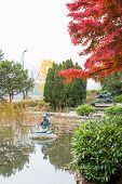 Japanese garden in Budapest