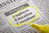 Employee Education Consultant Vacancy in Newspaper.