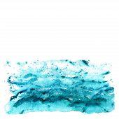 Abstract watercolor sea
