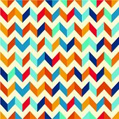 Vector Seamless Background. Geometric Pattern With Zigzag. Swatches Made With Global Colors - Quick