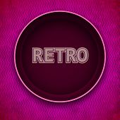 Retro postcard background with space for message. Vector illustration Eps10.