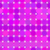Abstract vector background Seamless pink tile with flowers