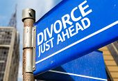Divorce Just Ahead blue road sign