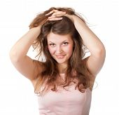 attractive surprised excited smile teenage girl