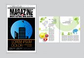 Cover and magazine layout. Vector