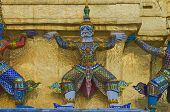 demon in the Temple of the Emerald Buddha , Bangkok Thailand