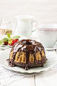 marble guglhupf cake