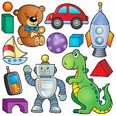 image of toy phone  - Collection with toys theme 2  - JPG
