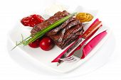 Meat And Dishware