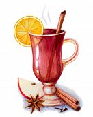 Mulled Wine With Spices.