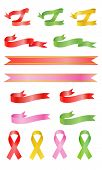 Curl and awareness color ribbons