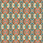Vertical Abstract Floral Pattern