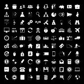 Business icons set - human resource, finance and office