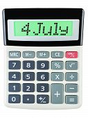 Calculator With 4 July On Display