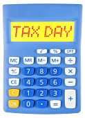 Calculator With Tax Day On Display