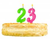 Birthday Cake With Candles Number Twenty Three