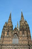 Lichfield Cathedral West Front.