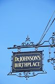 Dr. Johnsons Birthplace sign.