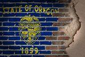 Dark Brick Wall With Plaster - Oregon