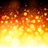 Bright fire bokeh abstract background