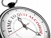 Time To Quit Alcohol Concept Clock