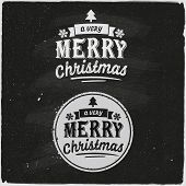 Christmas Set Of Typographic Design