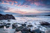 Beautiful Sunrise On The Cornwall Coast