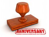 Rubber Stamp Anniversary (clipping path included)