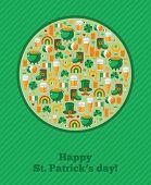 Saint Patrick's Day Ornamental Background.