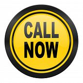 call now icon, yellow logo