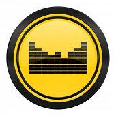 sound icon, yellow logo
