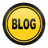 blog icon, yellow logo