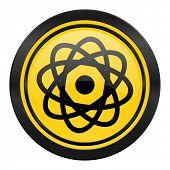 atom icon, yellow logo