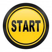 start icon, yellow logo