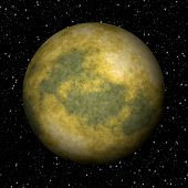 Abstract Pluto Planet Generated Texture Background