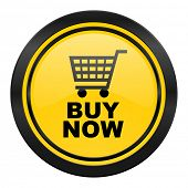 buy now icon, yellow logo