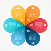 Vector circle color leaves infographic. Template for diagram, graph, presentation and chart. Busines