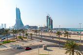 Skyscrapers Under Construction In Manama City, Bahrain