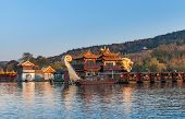 Chinese Wooden Recreation Boats, West Lake, Hangzhou