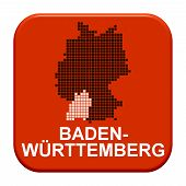 Red Button: German Region Baden-Wuerttemberg