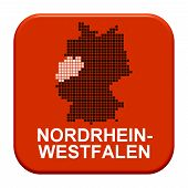 Red Button: German Region Nordrhein-westfalen