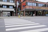 Klaipeda, Lithuania, November, 18, 2014: crosswalk