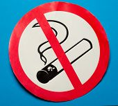 No Smoking Sign On Background