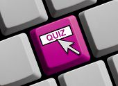 foto of quiz  - Computer Keyboard with Mouse Arrow showing Quiz - JPG