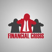 foto of crisis  - businessmen financial crisis abstract symbol background - JPG