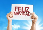 Merry Christmas (in Spanish) card with a beautiful day