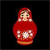 Babushka Doll in Red