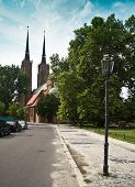 Постер, плакат: Cathedral Church Of St John The Baptist Wroclaw Poland