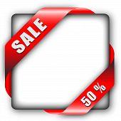 red corner ribbon for sale